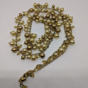 Banana Republic Faux Pearl Bead Necklace